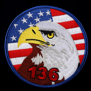 Eagle with American Flag Logo Full Embroidery Patch Custom Made Logo Patch On Cloth
