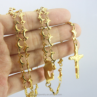fashion necklaces 2014 bead chain cross pendant necklace
