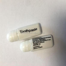 Disposable small weight 3 g toothpaste