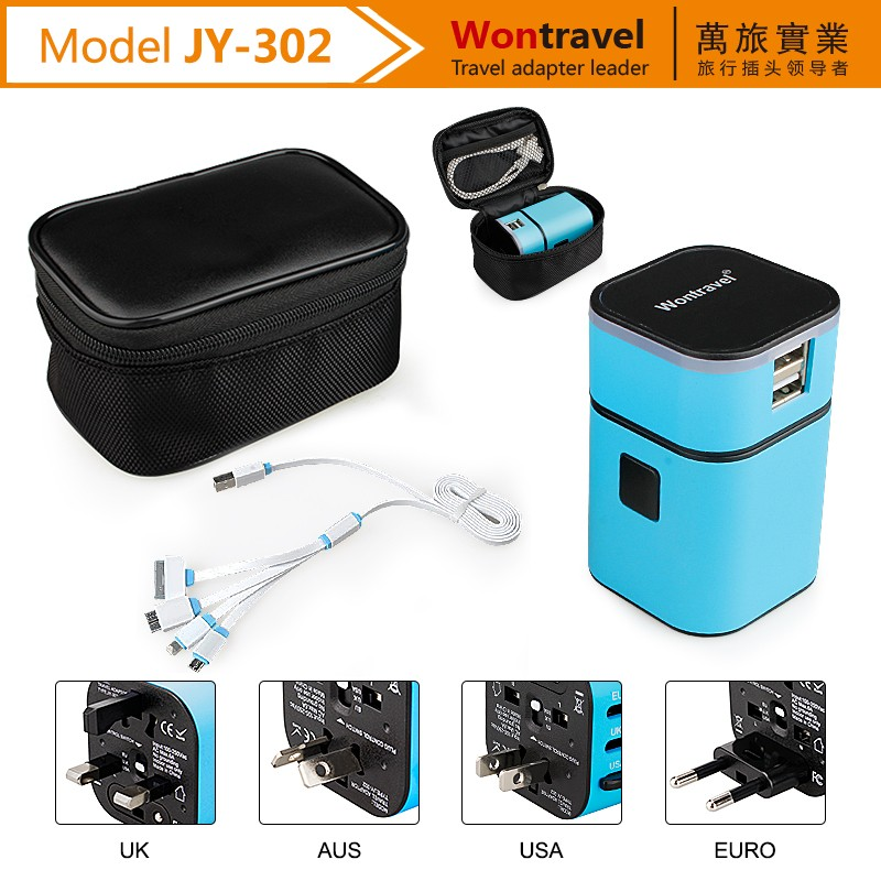 China supplier wholesale gift items for universal travel power adapter with usb wall socket
