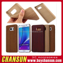 Wood bamboo TPU case soft gel PU leather case skin back cover for samsung galaxy note 5