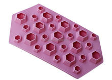 Custom Cute Diamond Shape Silicone Ice Cube Tray, Wholesale Cheap Diamond Shape Silicone Ice Cube Tray