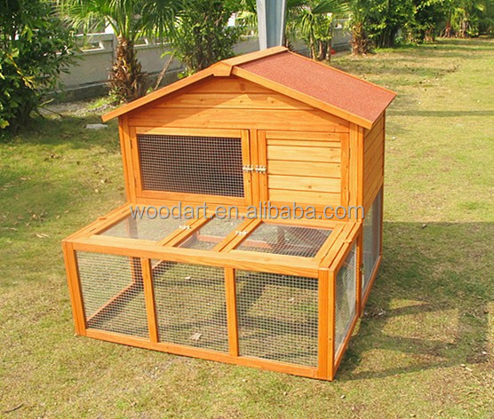 High quality wood made rabbit breeding cages, commercial rabbit farm cage
