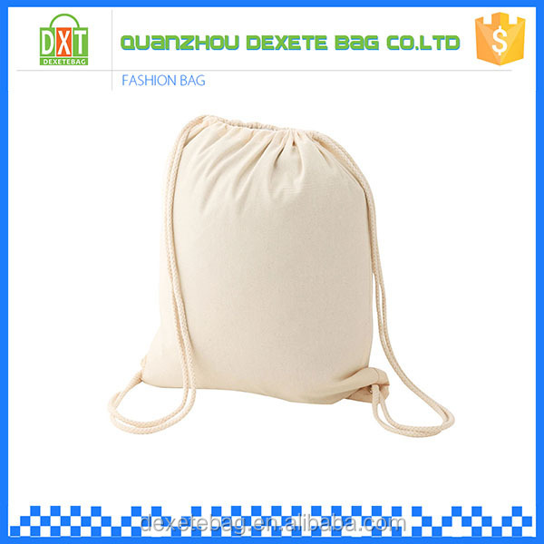 Alibaba china fabric blank white cotton muslin bag drawstring
