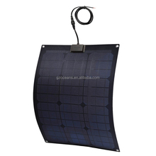 Custom made semi flexible solar panel for boat with long service life
