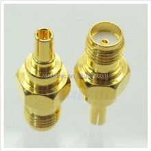 gold plated crc9 plug to sma jack adapter connector