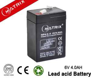 6v4ah lead acid battery for emergency light NP4-6 MATRIX