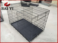 Portable black dog cage with handles