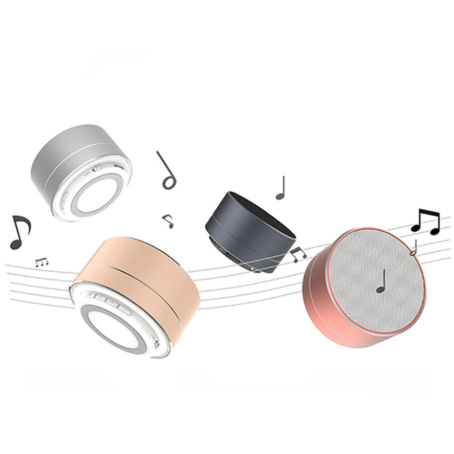 Wholesales cheap wireless speaker <strong>A10</strong> portable wireless mini 3W speaker with LED light