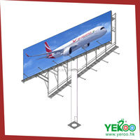 Outdoor advertising billboard double side outdoor sign board material model A of double-side column billboard