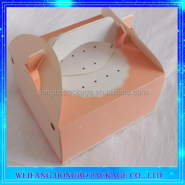Factory Offer Customized Handle Paper Cake Box Design With ISO FDA