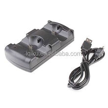 High Quality 2 In 1 Double Charging Dock USB Charger Desk Dock Station Stand Charging For PS3 Move Game Controller