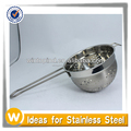 Kitchen Food Stainless Steel Strainer Colander With Double Handle Set of 3
