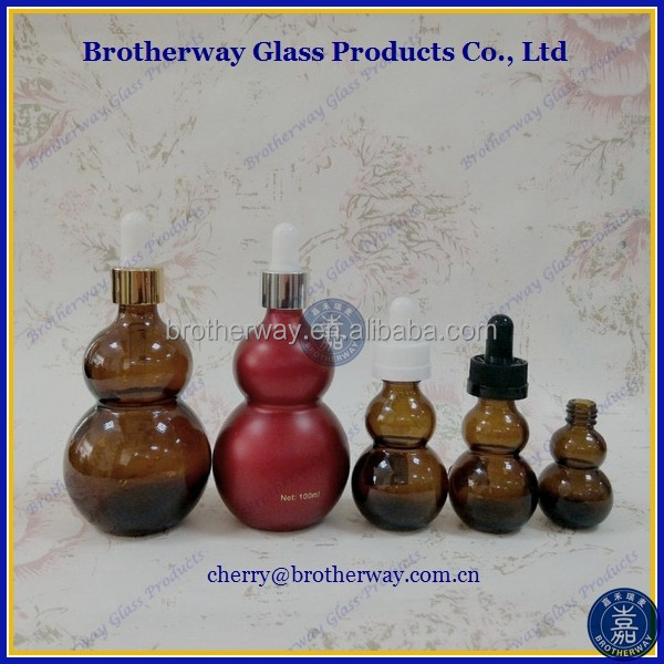 amber gourd glass bottles for essential oil