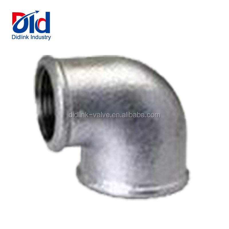 Black Malleable Pipe Fitting Cast Iron 90 Degree Reducing F&f