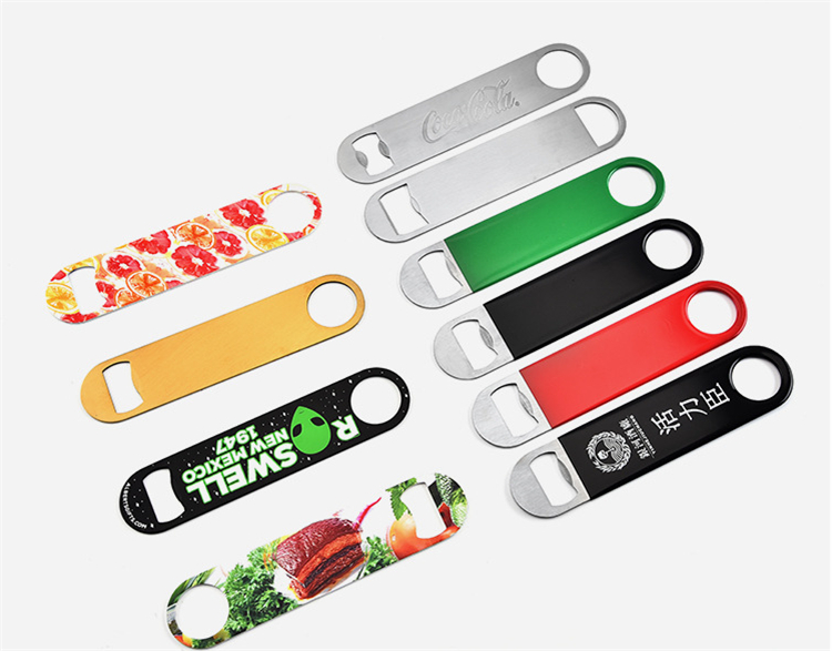 High quality Stainless steel PVC plate  bottle opener beer