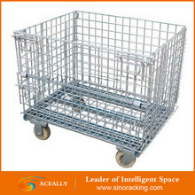 Galvanized Metal Wire Cage Storage Stackable Steel Crate