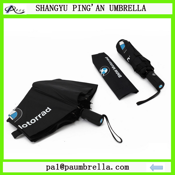 High lever umbrella BMW promotion 3 folding auto open and close umbrella