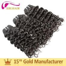 XBL hair factory long lasting natural color jazz wave human hair extensions