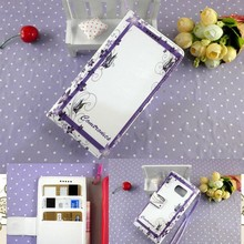 High quality DIY tax stamp women phone purse for samsung galaxy note 2 3 4 with hand strap wholesale