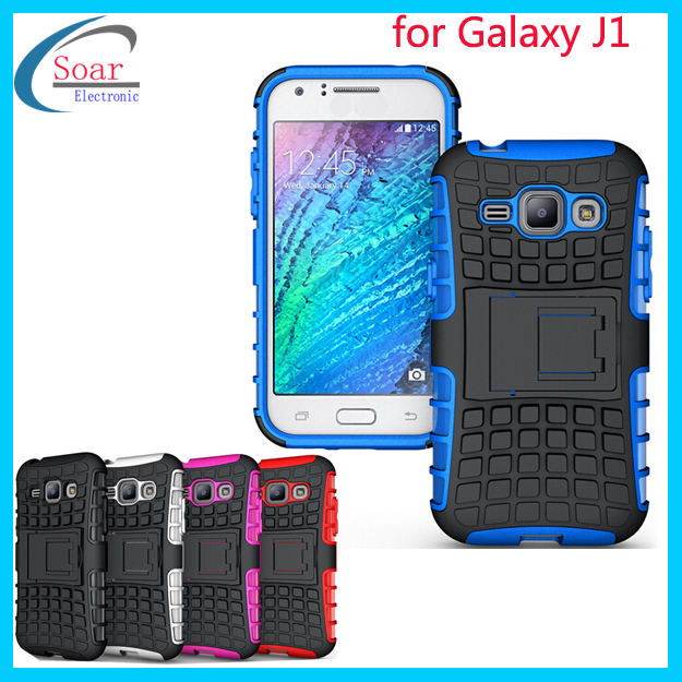 tpu pc stand hybrid case cover for samsung galaxy j1 ace. Black Bedroom Furniture Sets. Home Design Ideas