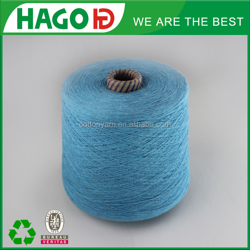 regenerated carded cotton polyester colored cotton thread knitting bedsheet table cloth ect 16s open end 100% cotton yarn
