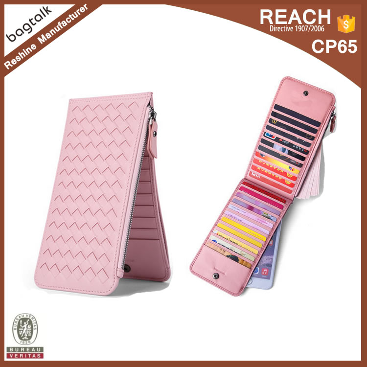 WL005 2016 New Product Pink Woman Wallet Leather Women