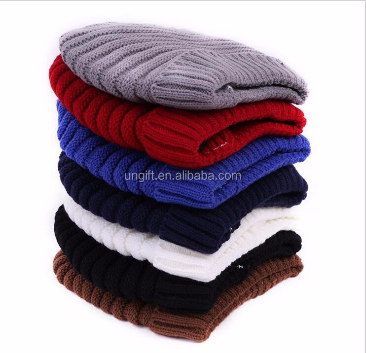 High Quality Warm Wool Caps Knitted Beanies Hat Infinity Scarf Winter Skullies Cap For Woman and Men