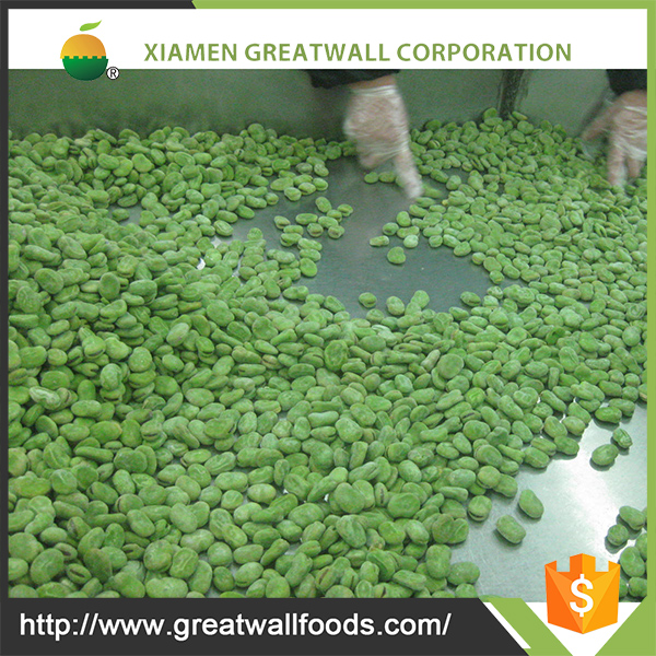 IQF/Frozen green broad bean/fava beans from China