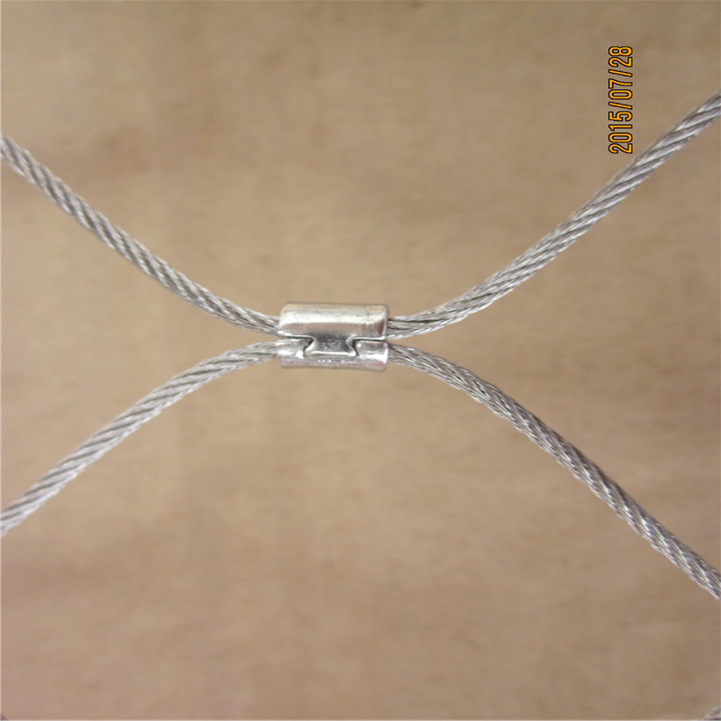 Fancy ferrule style inox x-tend staircases security cable mesh