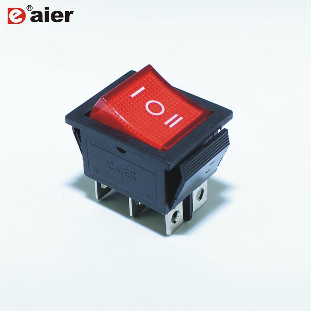 Wholesale 3 Way Rocker Switches Online Buy Best Led Light Switch 6pin On Off Strong3 Strong Strongway