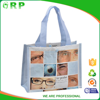 Stylish lovely large shopping bag with laminated durable pp woven bag