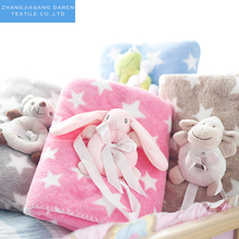 China Supplier Custom 2 Ply Soft Baby Mink Fleece Toy Blanket