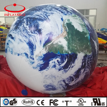 self inflating earth shape floating inflatable helium balloon