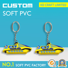 High quality custom shape promotional rubber pvc 3d airplane keychain manufacturers in china