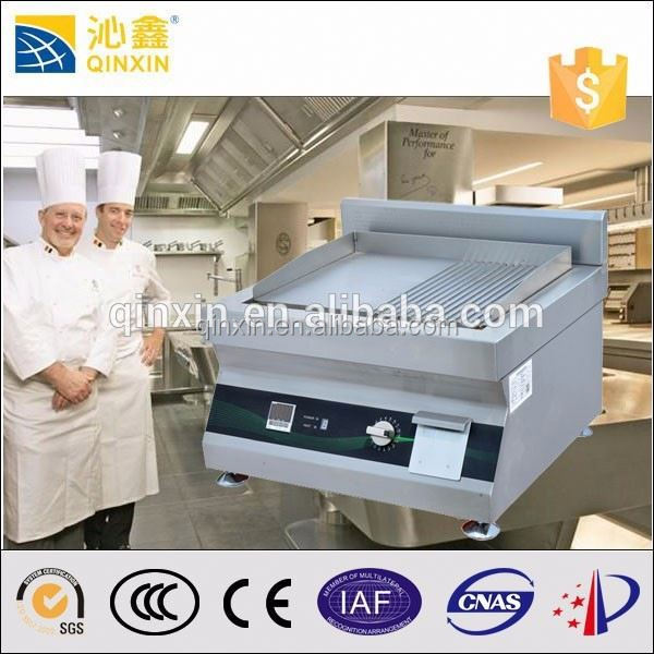 stainless steel induction flat cast iron comercial bbq grill/more faster than electric rotary chicken grill machine