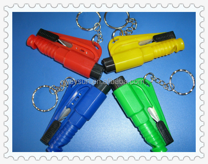 3 in 1 Emergency Mini Safety Hammer Auto Car Window Glasses Breaker Seat Belt Cutter Rescue Hammer Car Life-saving Escape Tool
