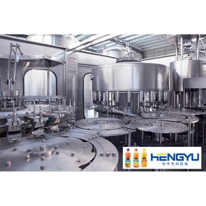 Heng Yu automatic fruit juice PET bottle washing filling capping machine / machinery / equipment production line price