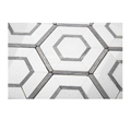 popular blue and white marble hexagon natural stone mosaic tile