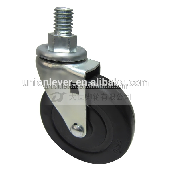Screw type chair caster mini rubber caster bolt type wheels