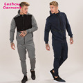2018 new arrival mens tracksuit,zip up hooded top,skinny jogger