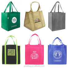 promotional cheap logo non woven tote shopping bags