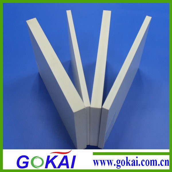 white pvc plastic foam board,high hardness and density