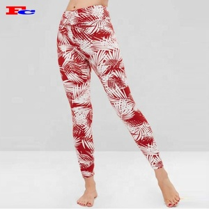 Wholesale Dri Fit Running Tights Custom Sublimation Printing Yoga Pants Leggings