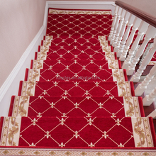 New Style 100% Polyester Jacquard Red Floor Tiles Furnitures House Floral Pig Carpet For Stairs