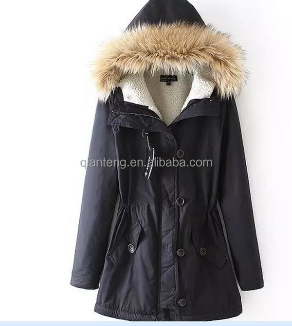 turkey ladies fishtail latest long russion new faux fur lining real raccoon fur woman jacket coat design women winter