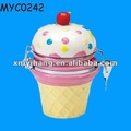Cupcake shaped ceramic canister