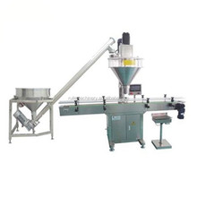 Powder Packaging Machinery Small Plastic Bottle Packaging Machine With Feeder