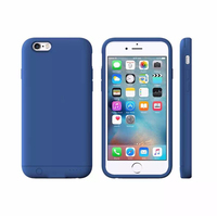 Hot Selling 2400mAH Power Bank Charger Wallet Battery Cover Case for iPhone 6, for iPhone 6 Backup Battery Case