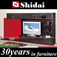 Luxury lcd tv display units / tv cabinets wall units / wall mounted tv units E-58